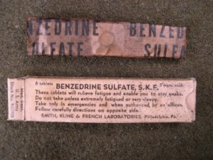 Benzedrine Sulphate 5mg tablets - S.K.F